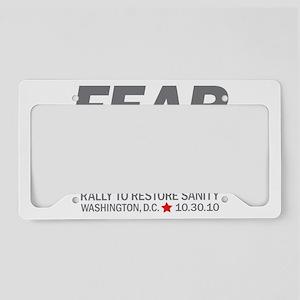 Fear Works License Plate Holder
