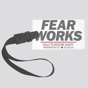 Fear Works Large Luggage Tag