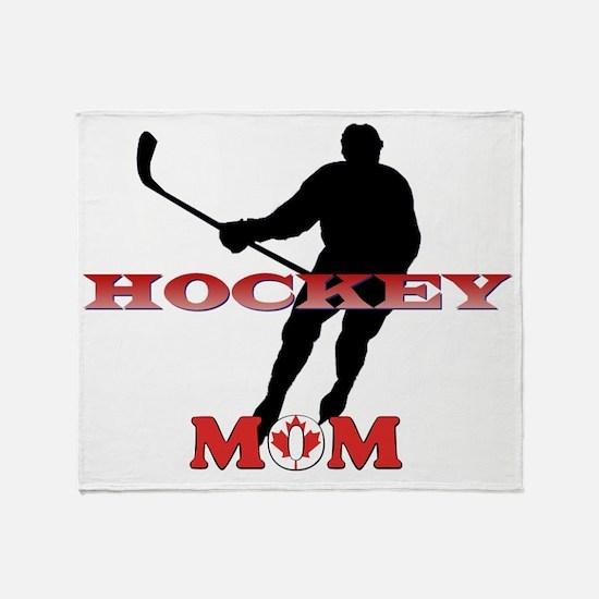 Hockey Mom Canada Throw Blanket