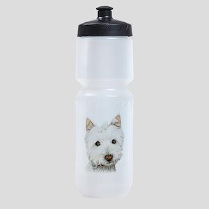 Cute West Highland White Terrier Dog Sports Bottle