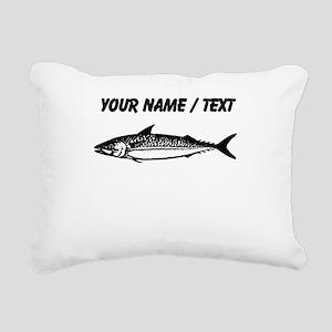 Custom Fish Sketch Rectangular Canvas Pillow