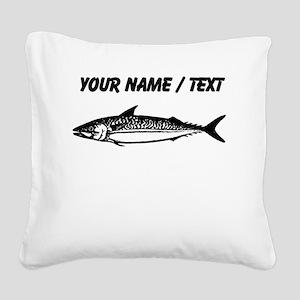 Custom Fish Sketch Square Canvas Pillow