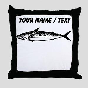 Custom Fish Sketch Throw Pillow