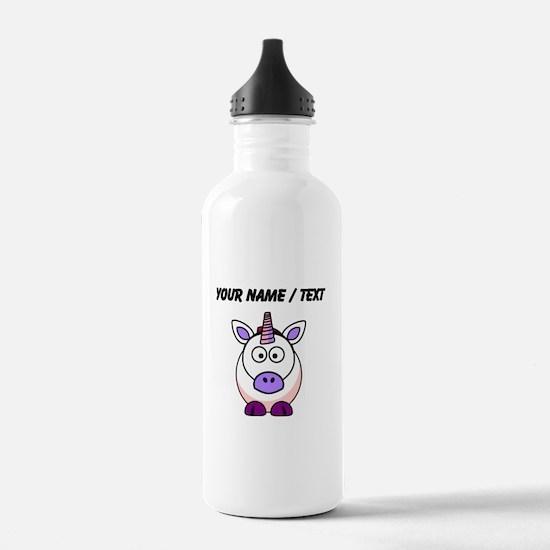Custom Cartoon Unicorn Water Bottle