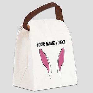 Custom Bunny Ears Canvas Lunch Bag