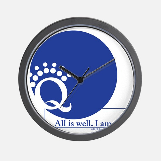 Blue is Well Wall Clock