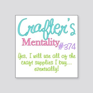 "374-craft Square Sticker 3"" x 3"""