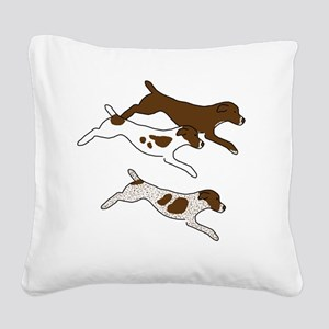 JumpDownThreeGSP001 Square Canvas Pillow