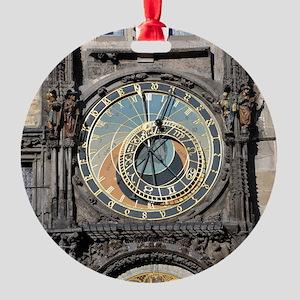 astronomical clock Round Ornament