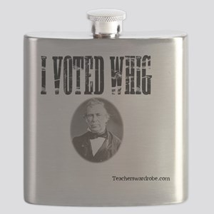 I Voted Whig Flask