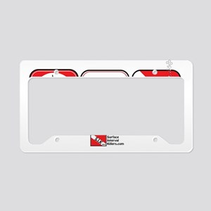 2-Eat-Sleep-Dive License Plate Holder