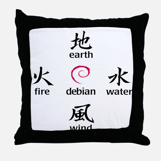 Elements of Debian Throw Pillow