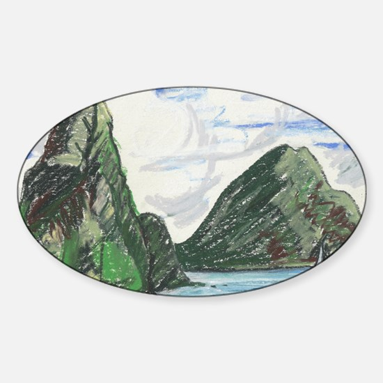 Gros and petit petons st lucia Sticker (Oval)