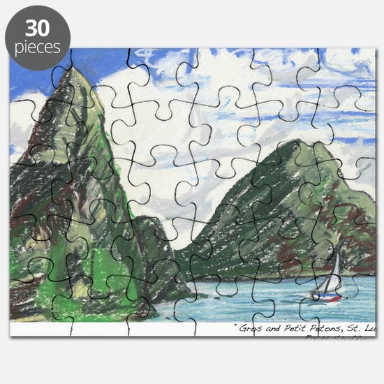 Gros and petit petons st lucia Puzzle