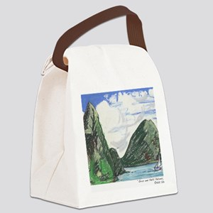 Gros and petit petons st lucia Canvas Lunch Bag