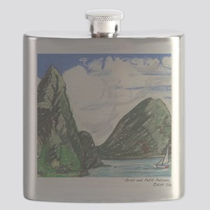 Gros and petit petons st lucia Flask