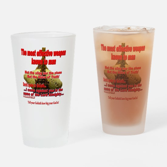 effective_weapon_tee Drinking Glass