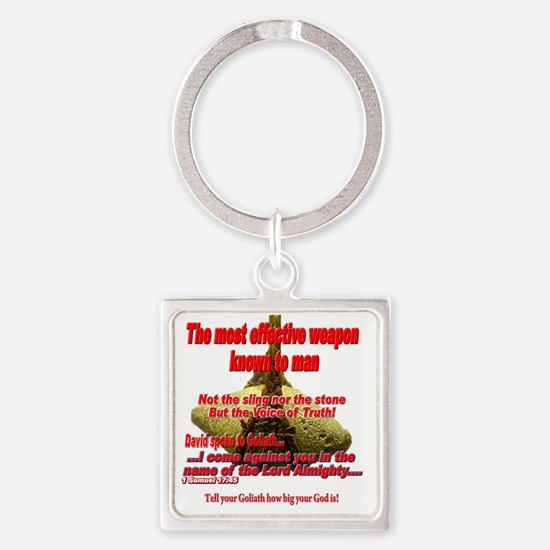 effective_weapon_tee Square Keychain