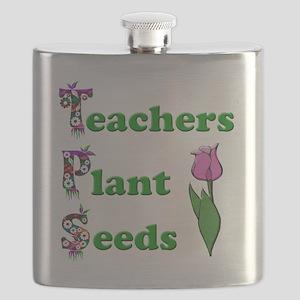 Teachers plant seeds green Flask