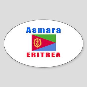 Asmara Eritrea Designs Sticker (Oval)