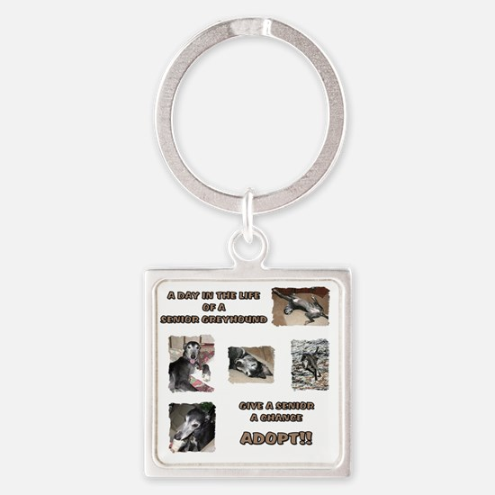 A Day in the Life Square Keychain