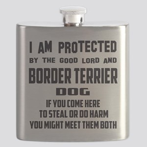 I am protected by the good lord and Chinese Flask