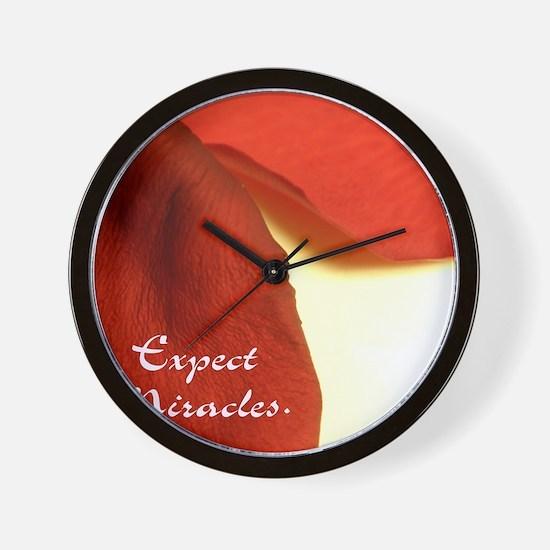 redrosepetals Wall Clock