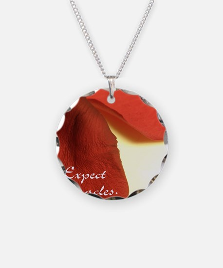 redrosepetals Necklace Circle Charm