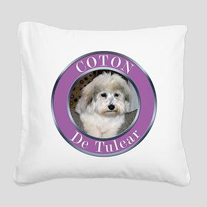 COTON2010 copy Square Canvas Pillow