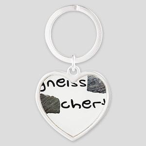 Gneiss Chert Heart Keychain