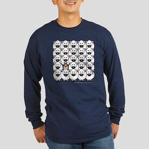 Sheltie in Sheep Long Sleeve Dark T-Shirt
