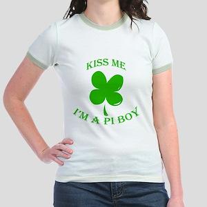 St. Pattys Kiss Me Jr. Ringer T-Shirt