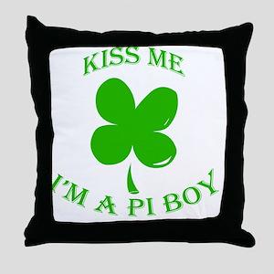 St. Pattys Kiss Me Throw Pillow