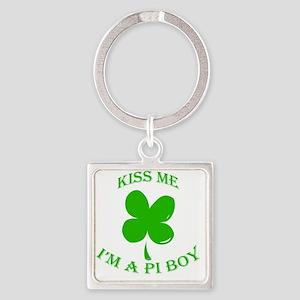 St. Pattys Kiss Me Square Keychain