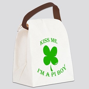 St. Pattys Kiss Me Canvas Lunch Bag