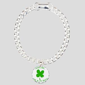 St. Pattys Kiss Me Charm Bracelet, One Charm
