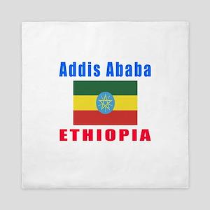 Addis Ababa Ethiopia Designs Queen Duvet