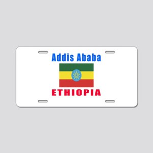Addis Ababa Ethiopia Designs Aluminum License Plat