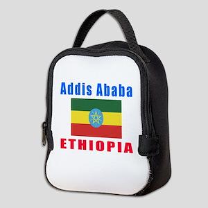 Addis Ababa Ethiopia Designs Neoprene Lunch Bag