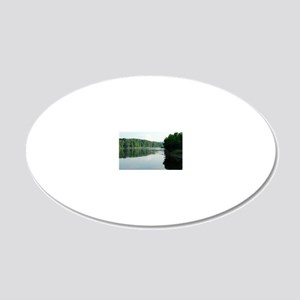 Delaware River 20x12 Oval Wall Decal