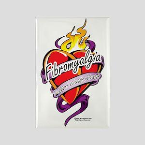 Fibromyalgia-Tattoo-Heart Rectangle Magnet