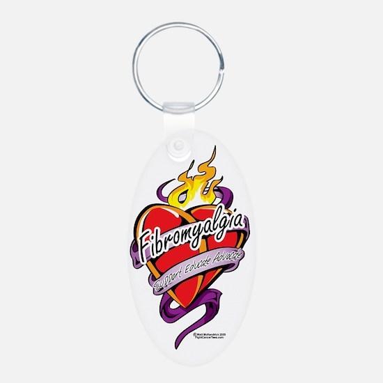 Fibromyalgia-Tattoo-Heart Keychains