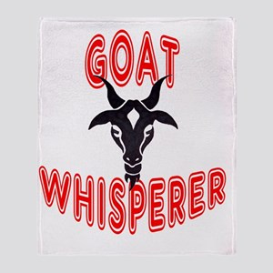 goat whisperer Throw Blanket