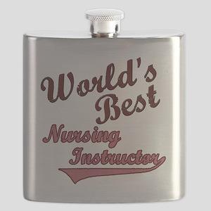Worlds Best  Nurse Ins Pink Flask