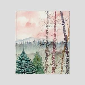 birch_tree_painting_large Throw Blanket