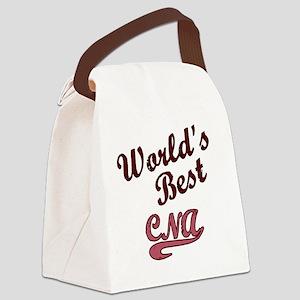 Worlds Best CNA Pink Canvas Lunch Bag