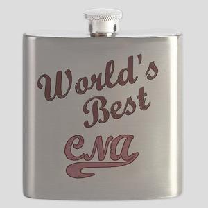 Worlds Best CNA Pink Flask