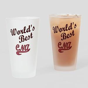 Worlds Best CNA Pink Drinking Glass