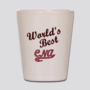 Worlds Best CNA Pink Shot Glass