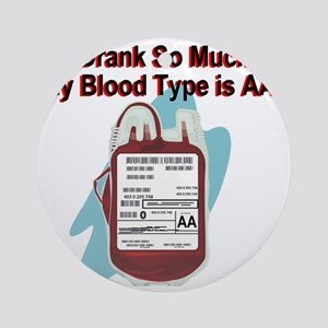 blood-type Round Ornament